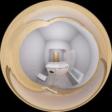 3d illustration 360 degrees panorama of bathroom interior Royalty Free Stock Photography