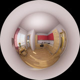 3d illustration 360 degrees panorama of a kitchen interior Stock Image