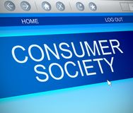 Consumer society concept. Royalty Free Stock Image