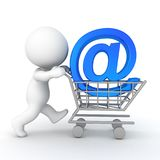 3D illustration depicting the concept of buying on line  Stock Images