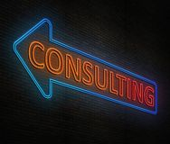 Neon consulting concept. Royalty Free Stock Image