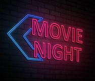 Movie night concept. Royalty Free Stock Images