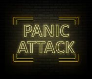 Panic attack concept. Royalty Free Stock Photo