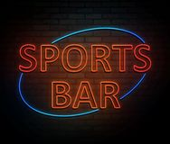 Sports bar concept. 3d Illustration depicting an illuminated neon sign with a sports bar concept Royalty Free Stock Photography