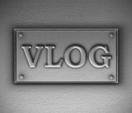Vlog plaque concept. royalty free stock photography