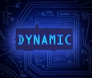 Dynamic tech concept. Royalty Free Stock Image