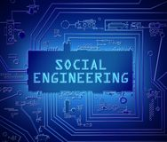 Social engineering concept. Stock Photography
