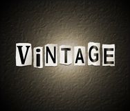 Vintage word concept. Royalty Free Stock Photo