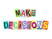 Make decisions concept. Royalty Free Stock Photo