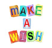 Make a wish concept. Royalty Free Stock Photography