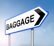 Baggage sign concept. Royalty Free Stock Photo