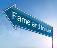 Fame and fortune concept. Royalty Free Stock Image