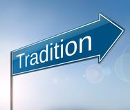 Tradition sign concept. Stock Photography