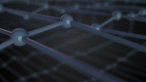 3d Illustration des molekularen Gitters, die Atome, die im Kristallgitter, Abschluss herauf Ansicht angeschlossen werden, 3d über lizenzfreie abbildung