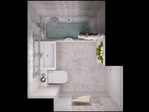 3d illustration of a design bathroom Stock Image