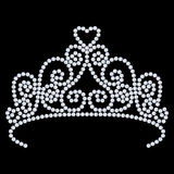 3D illustration diamond crown tiara with glittering precious sto. Nes  on a black background Royalty Free Stock Photos