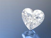 3D illustration diamond heart stone Royalty Free Stock Images