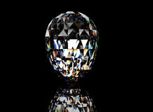 3D illustration of  Diamond. Jewelry background Stock Images