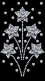 3D illustration diamond star fireworks salute ornament. On a black background Stock Photo