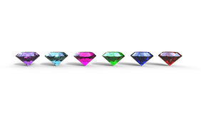 3d illustration of  different gem stones Royalty Free Stock Photos