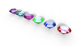 3d illustration of  different gem stones Royalty Free Stock Images