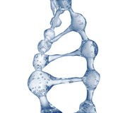 3d illustration of DNA molecule model from water. Royalty Free Stock Images
