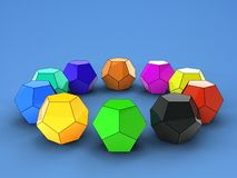 3d illustration of dodecahedron stock images
