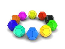 3d illustration of dodecahedron royalty free stock photography