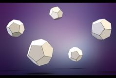 3d illustration of dodecahedron stock photo