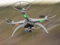 3d illustration of a drone in flight. 3d render of the drone in flight dynamics Stock Photos