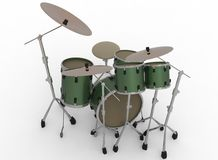 3d illustration of drum set. Royalty Free Stock Images