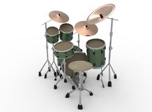 3d illustration of drum set. vector illustration