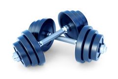 3d illustration of dumbell. Isolated on white Stock Images