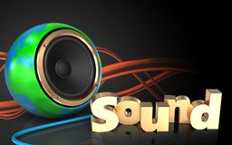 3d blank 'sound' sign Stock Image