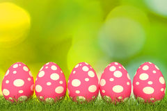 3d illustration easter egg pink color Royalty Free Stock Photos