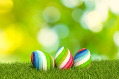 3d illustration easter eggs Royalty Free Stock Photography