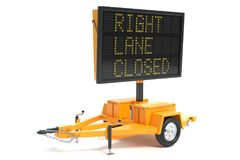Electronic Traffic Sign stock photos