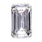3D illustration emerald diamond stone. On a white background Stock Photo