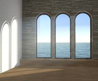 3D illustration of the empty dream room. Stock Photography