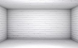Empty white brick room Royalty Free Stock Images