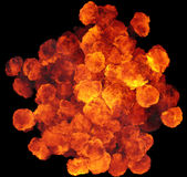 3D illustration of explosion fire cloud Royalty Free Stock Photos