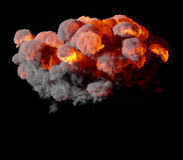 3D illustration of explosion fire cloud Stock Photos