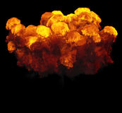 3D illustration of explosion fire cloud Royalty Free Stock Photography