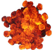 3D illustration of explosion fire cloud. On white background Royalty Free Stock Photos