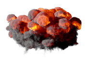 3D illustration of explosion fire cloud Stock Image