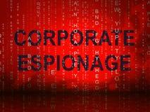 2d illustration för företags maskerad Cyberdataintrång för spionage vektor illustrationer