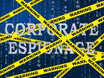 2d illustration för företags maskerad Cyberdataintrång för spionage royaltyfri illustrationer