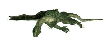 3D Illustration Fantasy Dragon on White Stock Photo