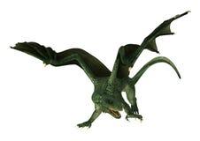 3D Illustration Fantasy Dragon on White Stock Photos