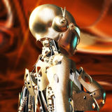 3D Illustration of a Fembot Royalty Free Stock Photo